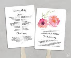 Fan Wedding Programs Template by Printable Wedding Program Fan Template Wedding Fans Diy