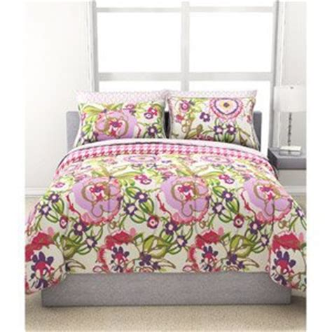 floral twin comforter com 5pc girl reversible fun bright green pink
