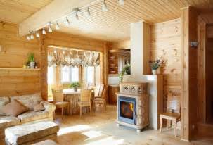 inside of a house inside a cosy finnish wooden house by rovaniemi log houses rovaniemi loghouse