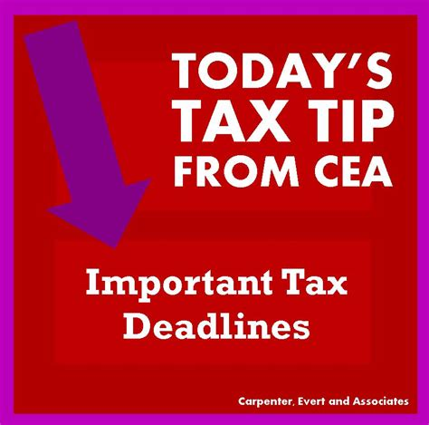 important tax deadlines for businesses and individuals