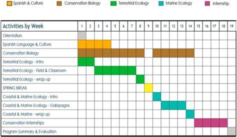 chronogram template program schedule ceiba