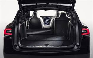 Tesla Rear Seats 7 Seat Tesla Model X Gets Fold Flat Rear Seats