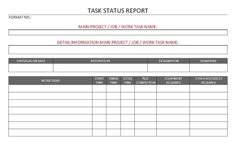 report template sle sle weekly project status report template 28 images