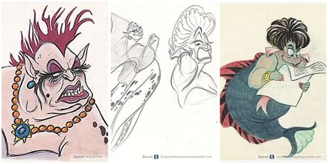 original concept designs for disney characters album on