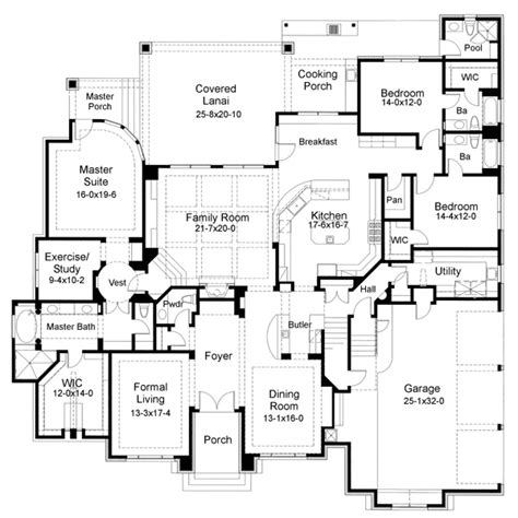tuscan 1 5 story house plans sunbelt style house plans 5407 square foot home 2 story 5 bedroom and 6 bath 3 garage