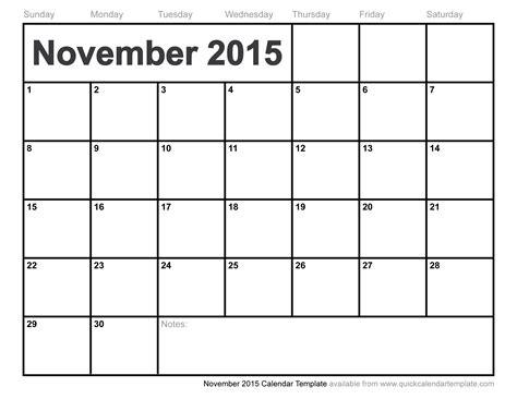 2015 november calendar template halloween