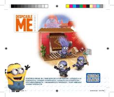 Mega Bloks Despicable Me Fortress Breakin Dkx77multicolor Building Mega Bloks Dkx77 Despicable Me