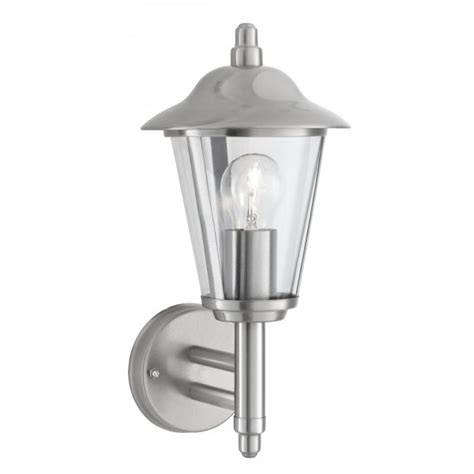 Brushed Chrome Wall Lights Searchlight 078 Outdoor Wall Light Brushed Chrome