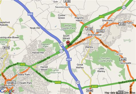 brentwood map map of inn brentwood m25 jct 28 brentwood
