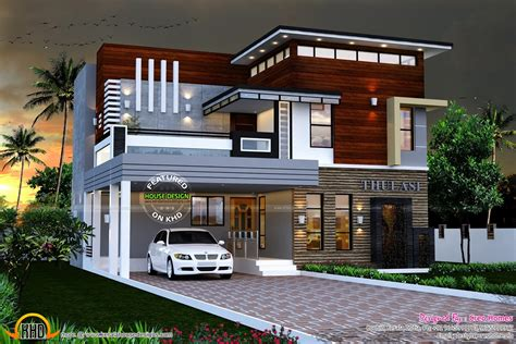 double floor modern style home design 2015 modern contemporary house plans kerala lovely september