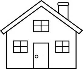 Black And White Home Little House Line Art Free Clip Art