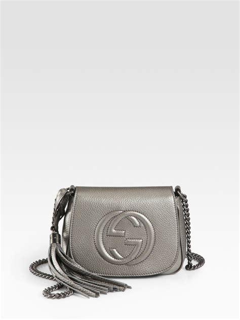 Garucci Shoulder Bag Abu Abu lyst gucci soho metallic leather chain shoulder bag in metallic