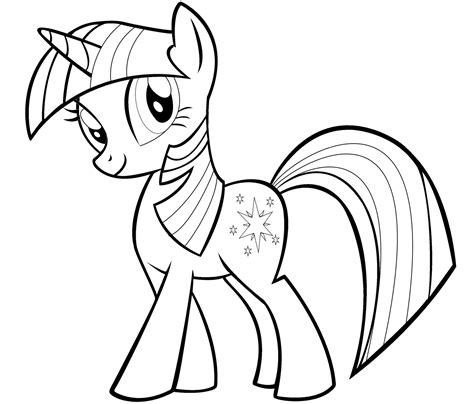 pony twilight sparkle coloring pages