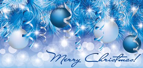 blue christmas service clipart shiny style banner design vector 01 vector banner free