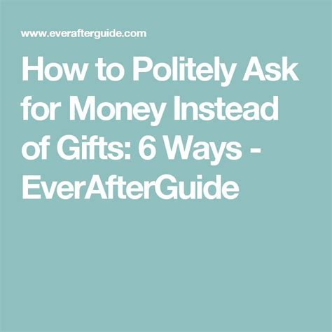 The Polite Way of Asking for Money Gift   Wedding ideas