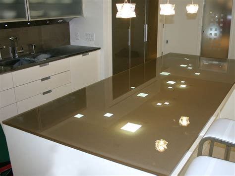 Back Painted Glass Countertops by Backpainted Glass Island Kitchen Countertop Cbd Glass