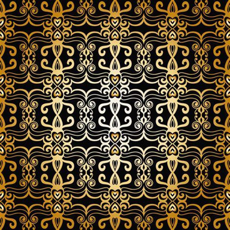 gold pattern graphic luxurious gold pattern seamless vector background free