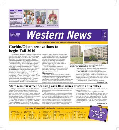 Western Illinois Mba by Western News 2010 By Western Illinois