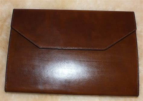 Handmade Leather Portfolio - handmade leather portfolio and computer by blue duck