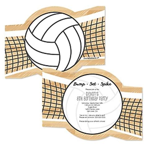 free printable volleyball birthday invitations bump set spike volleyball birthday party theme