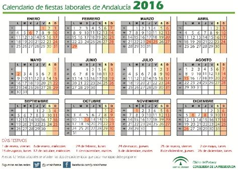 Calendario De Festivos Aprobado El Calendario De Fiestas Laborales En Andaluc 237 A