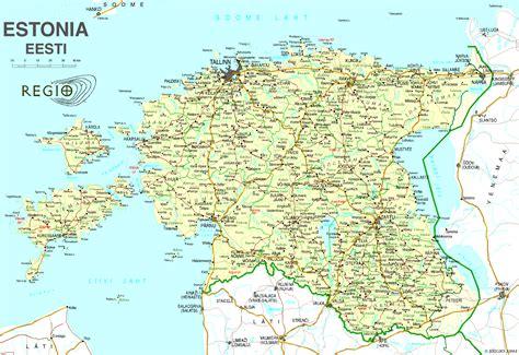 map of estonia estonia map estonia mappery
