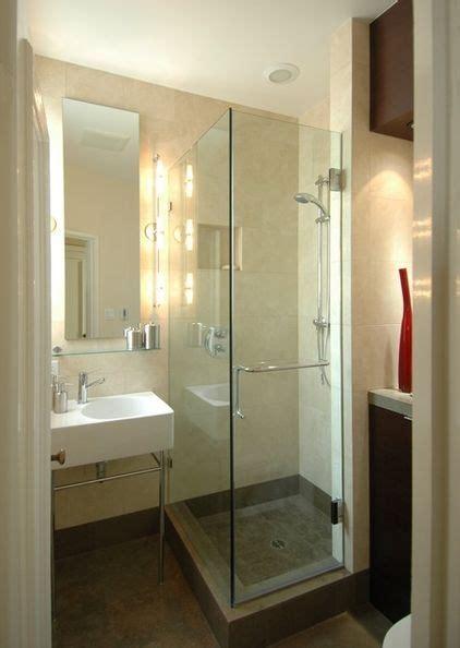 Small Glass Shower Basement Pinterest Small Bathroom Glass Shower
