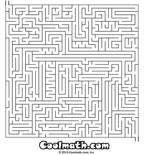 printable math worksheets cool math games cool math games com maze mazes for kids at cool math games free online