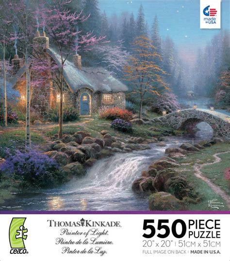 kinkade twilight cottage kinkade twilight cottage jigsaw puzzle puzzlewarehouse