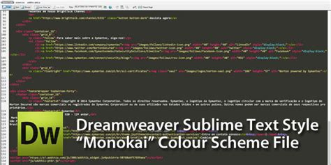 Sublime Text 3 Dreamweaver Theme | dark code view theme color scheme for dreamweaver cs3