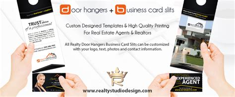 business card slits template real estate door hangers business card slits door