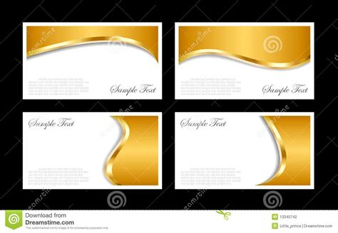 gold business card template gold business cards templates stock vector illustration