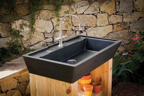 outdoor kitchen sinks ideas introducing the newest stone forest designs plumbtile
