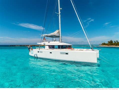lagoon boats freedom luxury charter sailing catamaran guests jumping