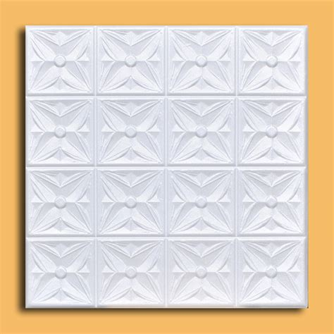 decorative ceiling tiles home depot antique ceiling tile 20x20 polystyrene r18w white easy