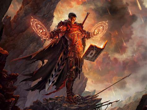 mage fantasy art books artwork realistic diablo iii swords