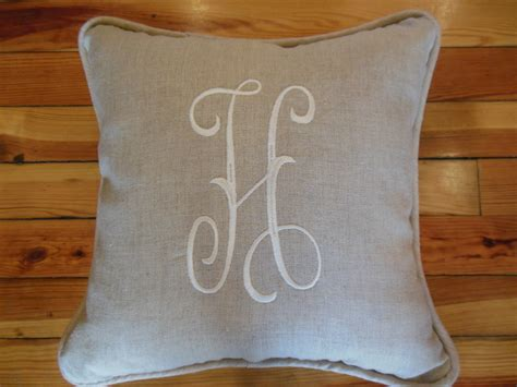 storing pillows quot h quot monogram pillow