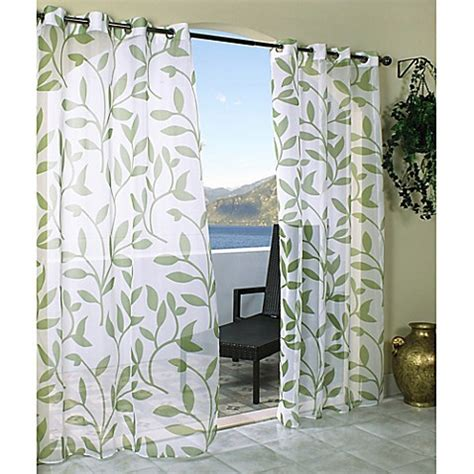 leaf print curtains buy commonwealth home fashions escape 84 inch grommet top