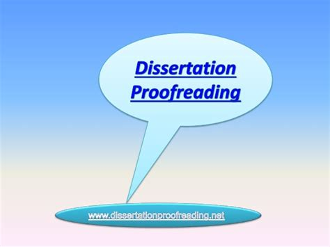 dissertation proofreading dissertation proofreading