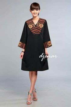 Mutia Tunic mini dress batik motif parang boket by danar hadi ok0743
