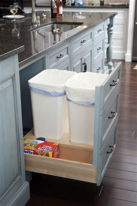 Kitchen Cabinet Garbage Drawer | room by room inspiration series the kitchen fab fatale