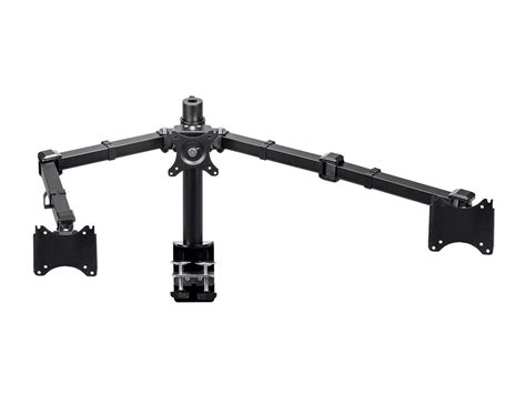 articulating monitor desk mount monoprice essential monitor articulating arm desk