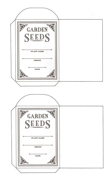 printable seed packet template the homestead jones printable seed packets