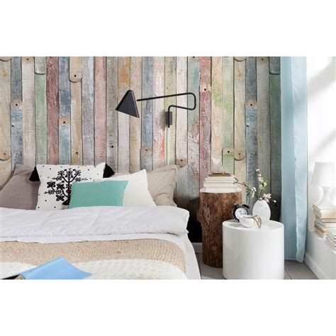 home depot wall murals komar 100 in x 72 in vintage wood wall mural 4 910 the home depot