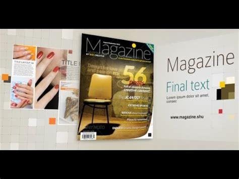 after effects free template magazine magazine after effects template youtube