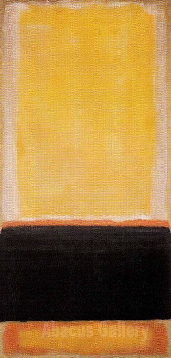 Kalung Manik Oranye No 4 rothko no 4 yellow black orange on yellow untitled 1953