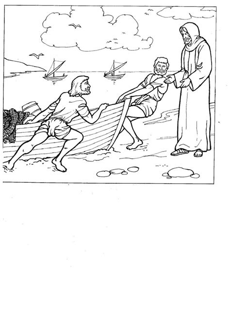 coloring pages jesus calling his disciples jesus calling his disciples st charbel church sydney