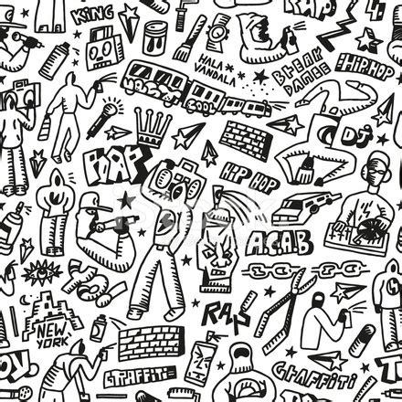 imagenes de wiz khalifa blanco y negro rap hip hop grafiti dikişsiz arka plan stock vector