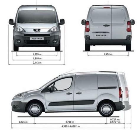 peugeot partner dimensions peugeot partner ii furgon l2 facelifting dane techniczne