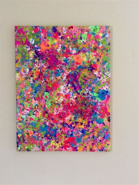 how to splatter acrylic paint on a canvas 25 best ideas about neon painting on adam